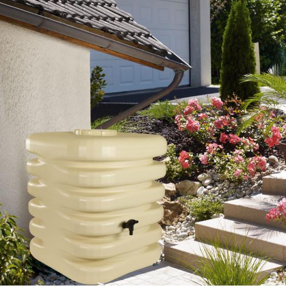 Réserve d'eau de pluie cubique 1000 litres beige ou gris