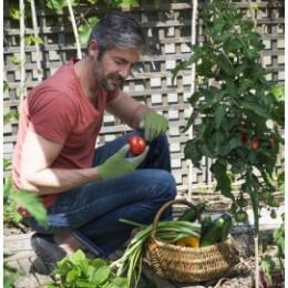 gants de jardinage homme confort vert sapin