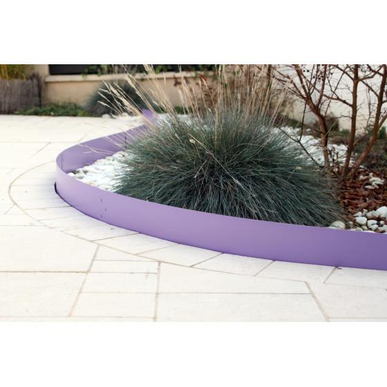Bordure de jardin en acier lilas H 15 cm