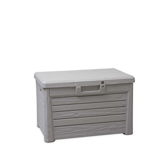 Coffre de rangement extérieur gris en résine 120 L