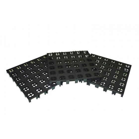 Dalle de jardin en plastique clipsable noire 30 x 30 cm