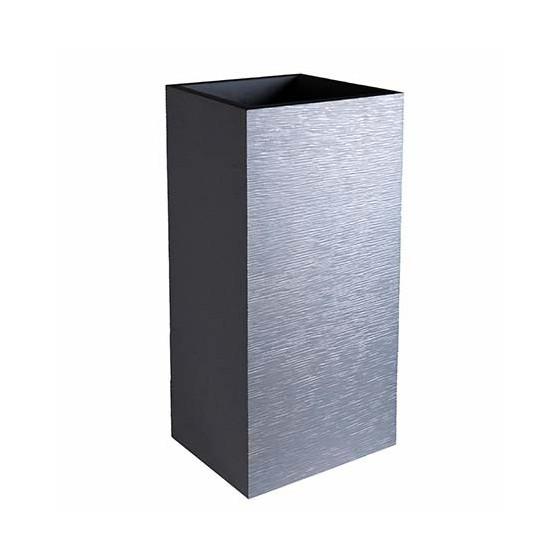 Bac à fleurs carré haut 31 litres gris anthracite