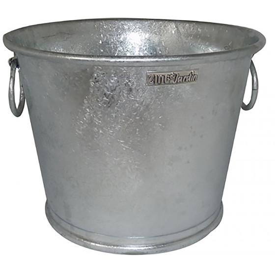 Pot en zinc rond 13 Litres