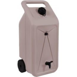 Réservoir d'eau nomade 2 roues taupe 55 litres