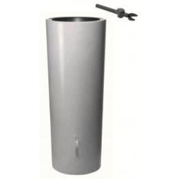 Récupérateur d'eau de pluie aspect pierre 350 L gris clair