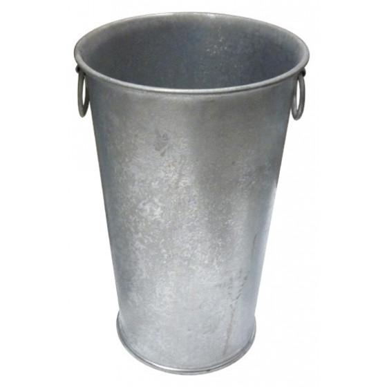 Pot en zinc haut et rond H 56 cm