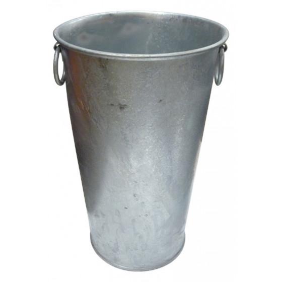 Pot en zinc haut et rond H 70 cm