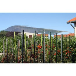 Extension abri pour tomate avec toit en polycarbonate 1,50 m