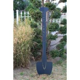 Pelle à planter en acier gris anthracite