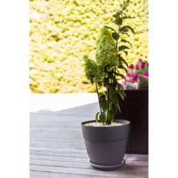 Pot de fleur gris anthracite rond 28,3 litres