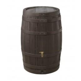 Récupérateur de pluie tonneau imitation bois 250 L