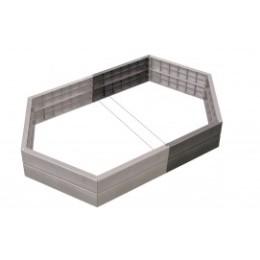 Extension carré potager hexagonal en plastique H 25 cm