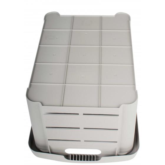 Caisse de rangement en plastique imitation bois 30 L (les 2)