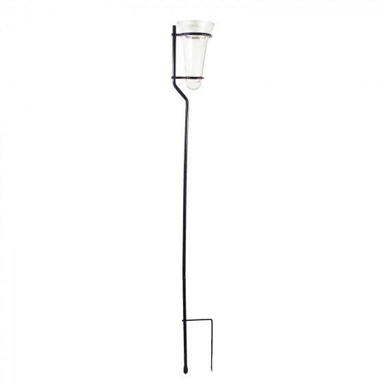 Pluviomètre en verre de jardin à piquer