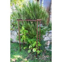 Petite pergola de jardin en acier fer vieilli