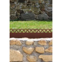 Bordure de jardin en acier fer vieilli arcade hauteur 18 cm