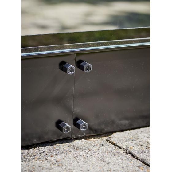 Embase en acier pour serre de jardin verre aluminium 5,1 m²