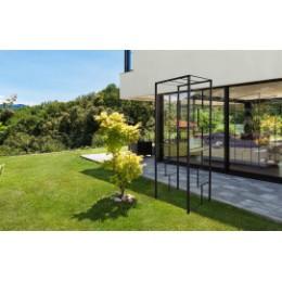 Arche de jardin petite largeur en acier gris anthracite