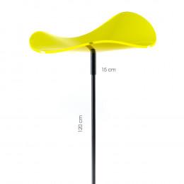 disque de fleur ondulé Cazador Del Sol jaune citron
