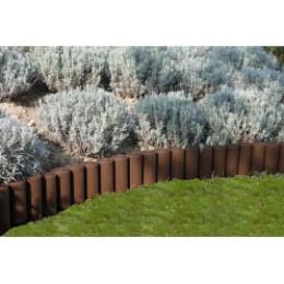 Bordure de jardin imitation rondin de bois